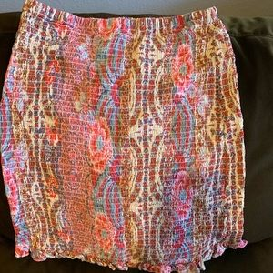 Guess Trixie Smocked pull-on skirt